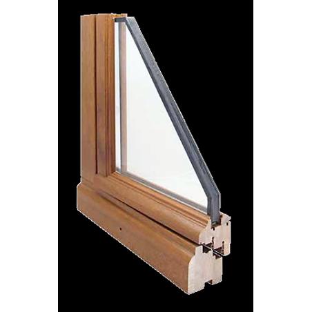 Porte Fenêtre Bois 1 Vantail avec détail angle technique