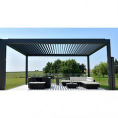 pergola bioclimatique polycarbonate toile enroulable. Black Bedroom Furniture Sets. Home Design Ideas