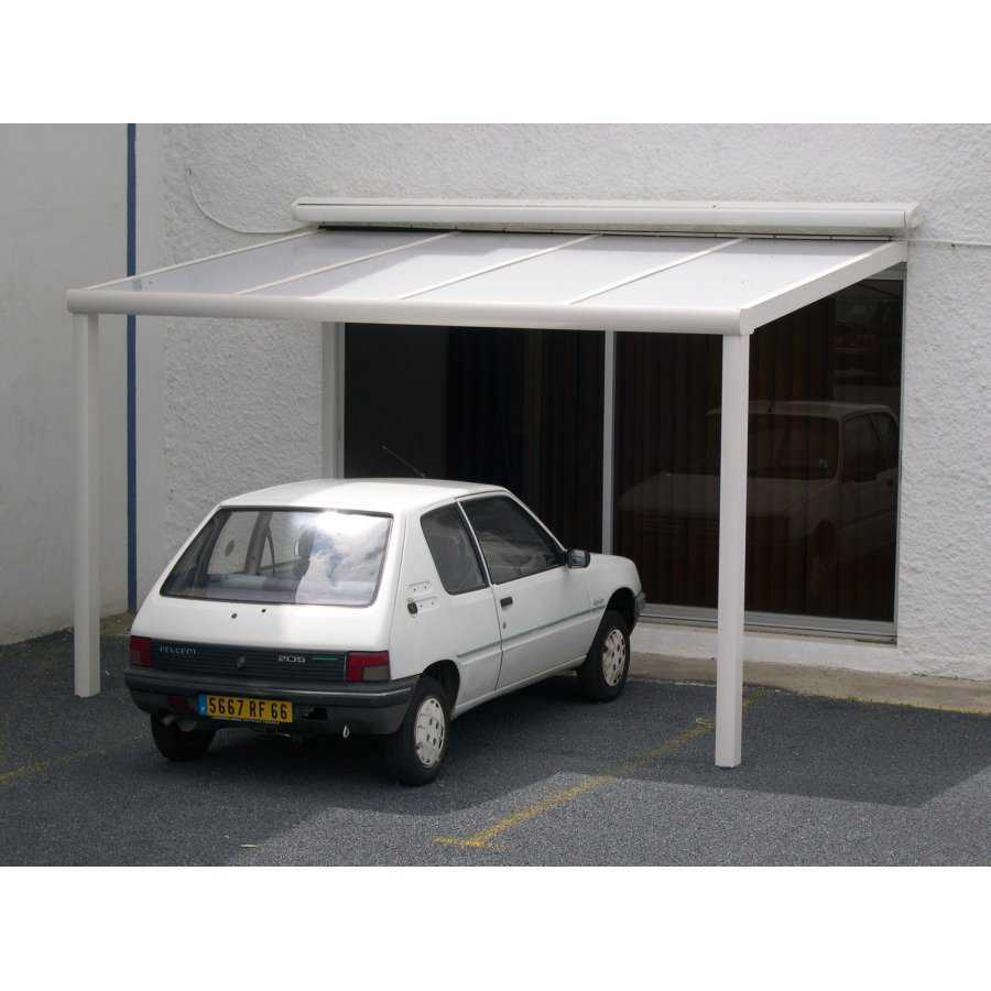 carport abri de voiture polycarbonate adoss e pas cher sur mesure. Black Bedroom Furniture Sets. Home Design Ideas