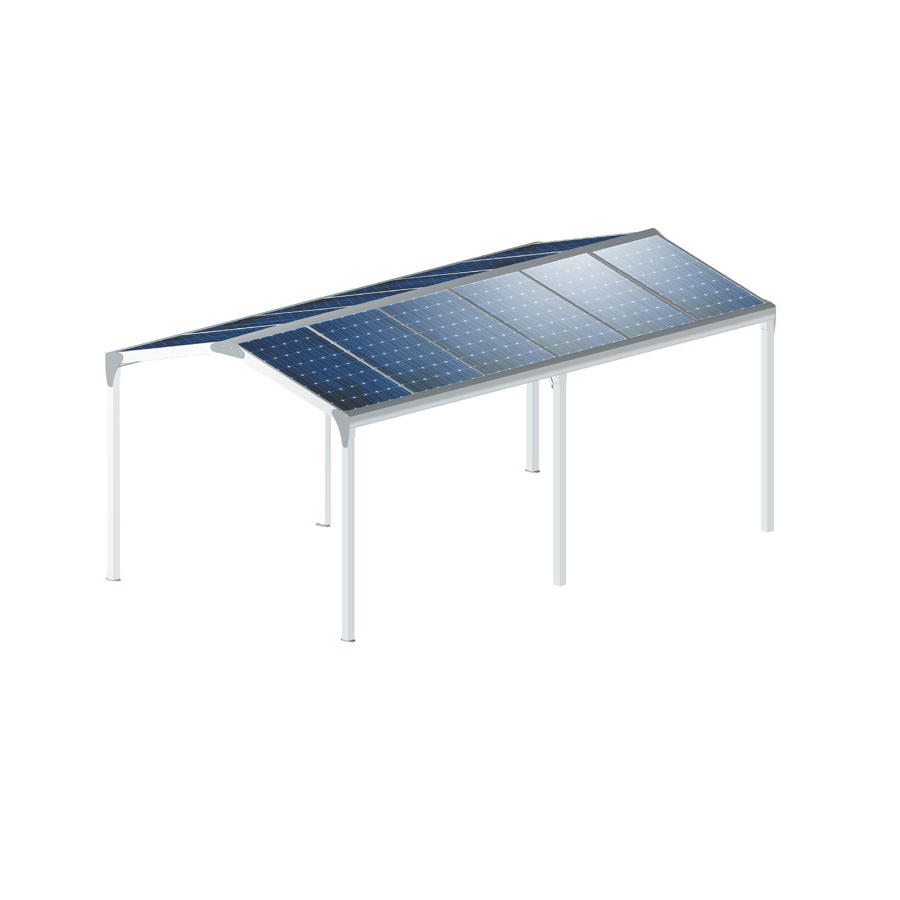 carport aluminium polycarbonate toit double pentes. Black Bedroom Furniture Sets. Home Design Ideas