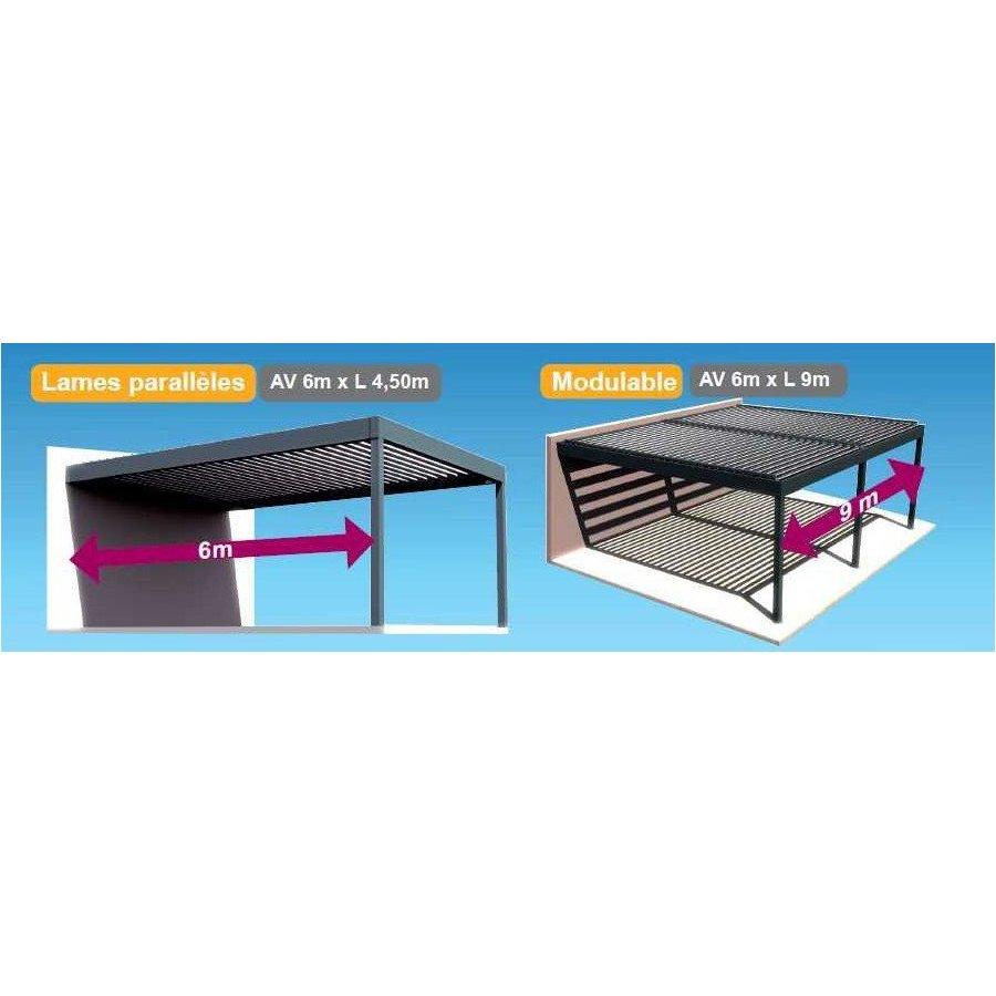 pergola bioclimatique adosse h3 a lames parall les. Black Bedroom Furniture Sets. Home Design Ideas