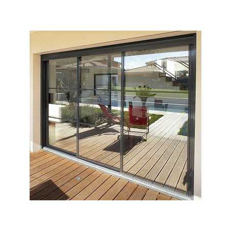 baie coulissante aluminium 3 vantaux sur mesure pas. Black Bedroom Furniture Sets. Home Design Ideas