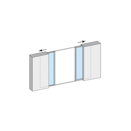 Coulissant à galandage aluminium 2 vantaux