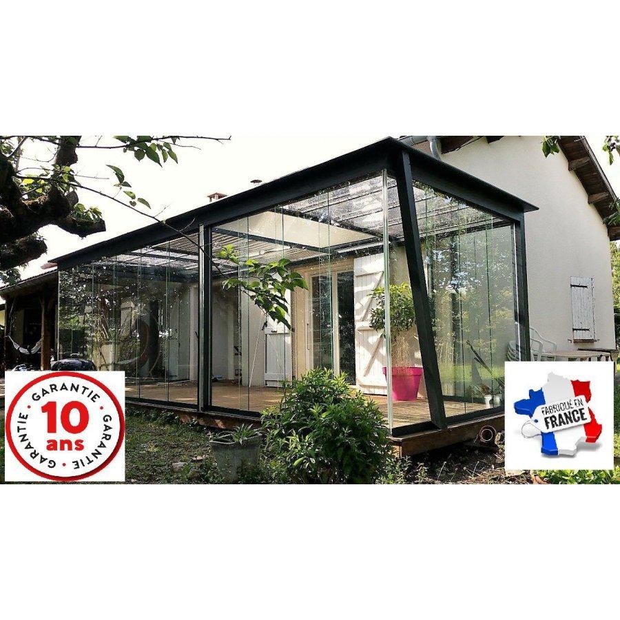 pergola toiture vo te ouvrante coulissante sur mesure direct usine. Black Bedroom Furniture Sets. Home Design Ideas