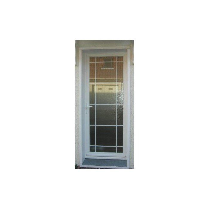 Porte d'entée PVC vitrée 1 vantail