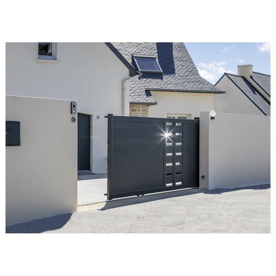 devis portail aluminium coulissant zik pas cher. Black Bedroom Furniture Sets. Home Design Ideas
