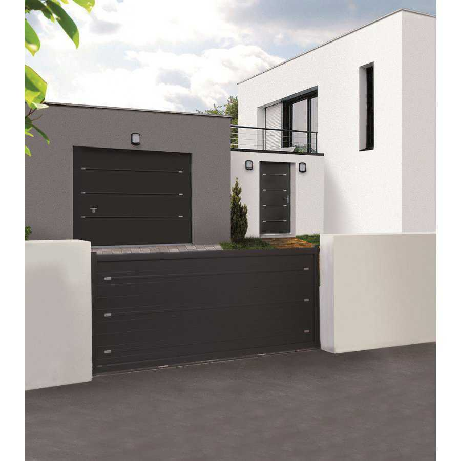 portail aluminium coulissant pas cher de qualite portail. Black Bedroom Furniture Sets. Home Design Ideas