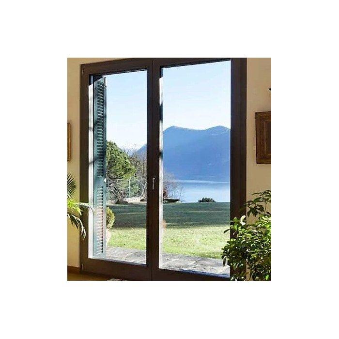 Porte fenêtre vitrée ALUMINIUM 2 vantaux à rupture pont