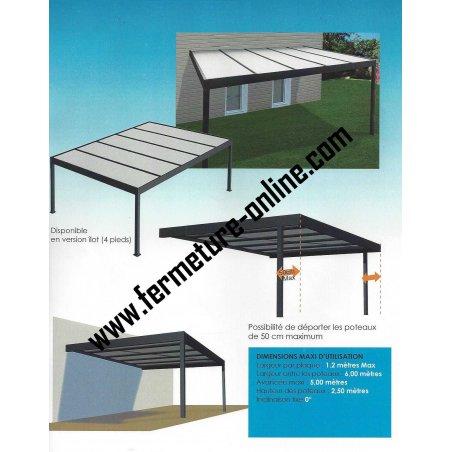 Achetez votre carport Toit plat panneaux isolant thermotop 32 mm