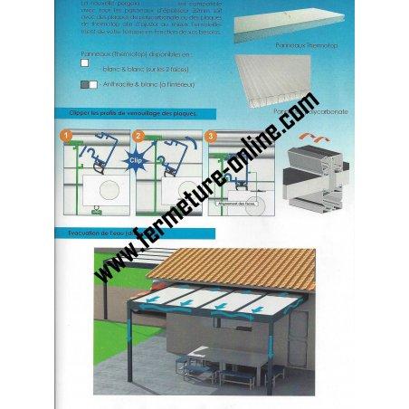 Analysez la fiche technique du carport Toit plat panneaux isolant thermotop 32 mm