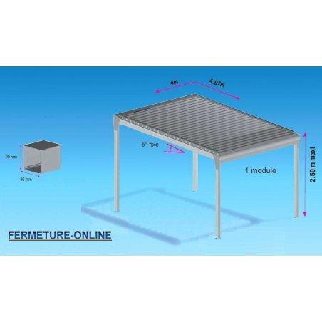 Pergola bioclimatique solaire auto portée