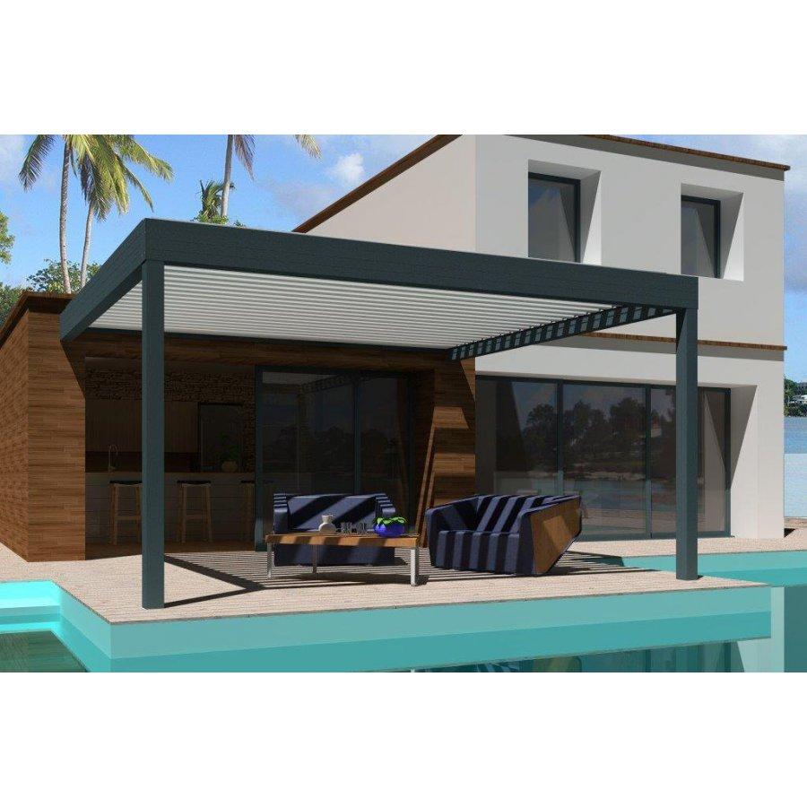 pergola bioclimatique adoss e pas cher pergola lames orientables. Black Bedroom Furniture Sets. Home Design Ideas