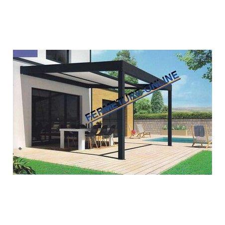 pergola toit ouvrant r tractable parall le polycarbonate. Black Bedroom Furniture Sets. Home Design Ideas