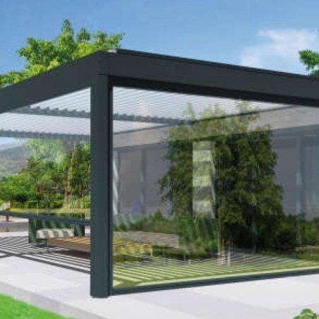 Store vertical haut de gamme pour pergola : édition Cristal ZIP