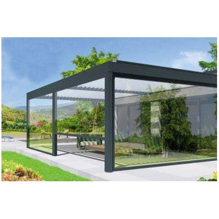 Store vertical haut de gamme à prix discount pour pergola: édition Cristal ZIP