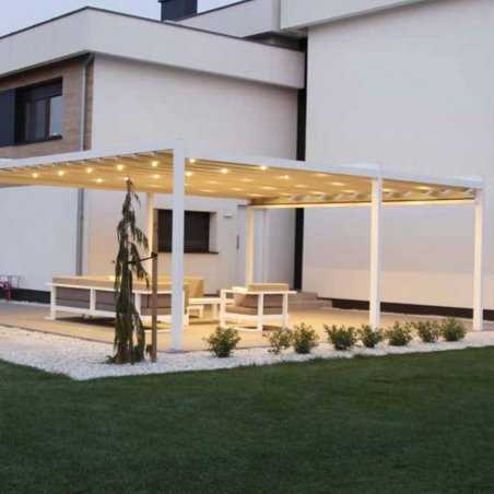 Pergola CIEL auto-portée à toiture rétractable haute technologie