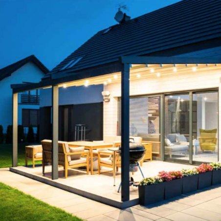 Venez acheter votre pergola adossée à toit retractable sur mesure de haute qualité