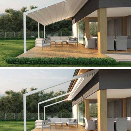 Votre future pergola ultra design adossée à toit retractable au meilleur prix !