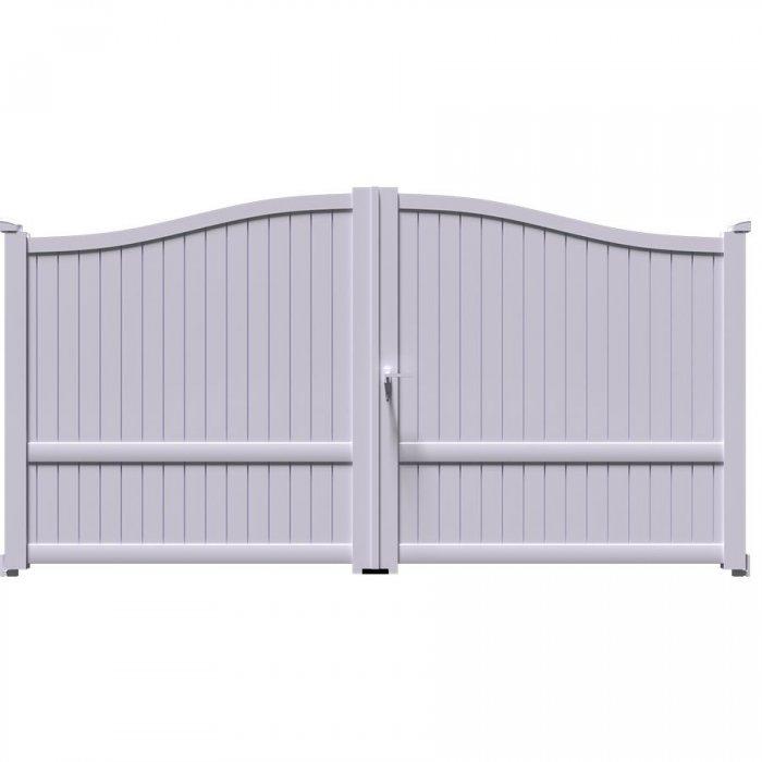 Un vrai portail fait par les pros pour tous avec le portail à 2 vantaux symétriques battant MARA