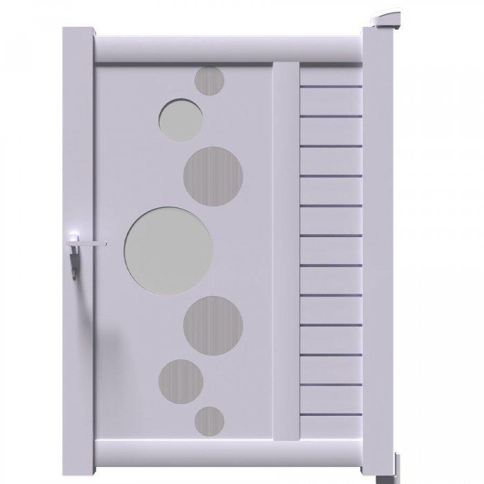 Qu'il est magnifique le portillon aluminium renforcé style moderne VIC
