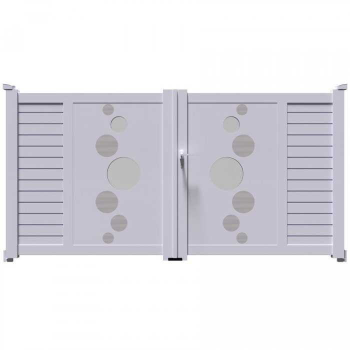 Envie d'un magnifique portail aluminium trés esthétique? regarde ce portail VIC battant à 2 vantaux