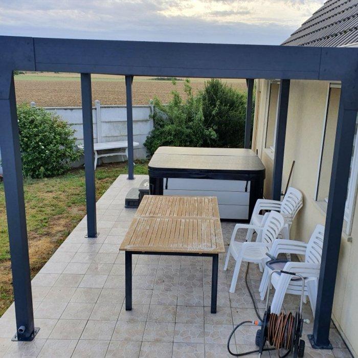 Pergola horizon top ilot toit polycarbonate