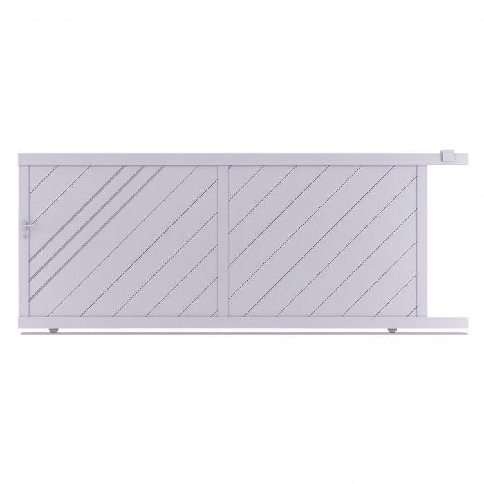 Achetez ici le beau portail aluminium coulissant LESM à prix discount