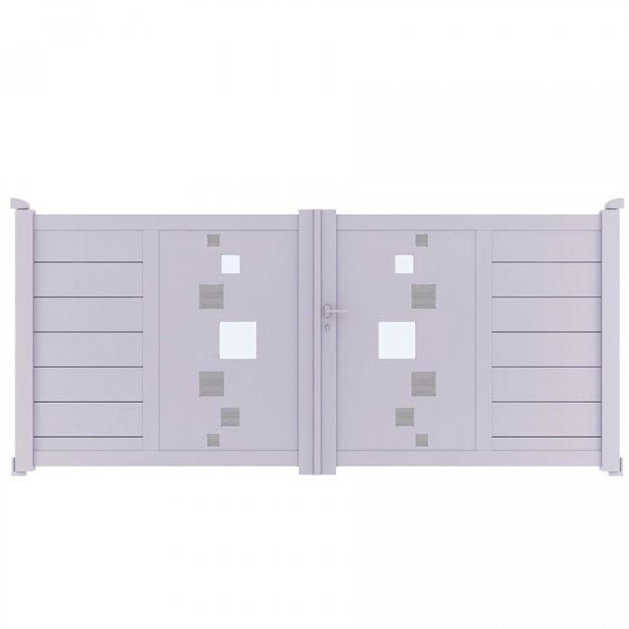 Achetez votre portail aluminium battant à 2 vantaux SOM à prix discount