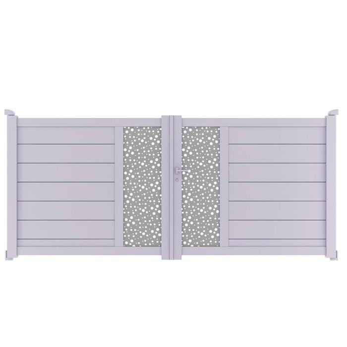Achetez votre portail aluminium battant à 2 vantaux BARBUDA à prix vraiment pas cher