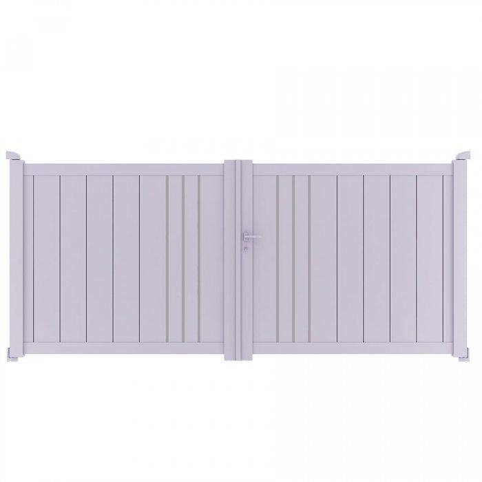 Achetez votre portail aluminium battant à 2 vantaux BAFFIN à prix vraiment discount