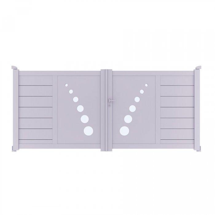 Achetez votre portail aluminium battant TRAI à prix vraiment discount