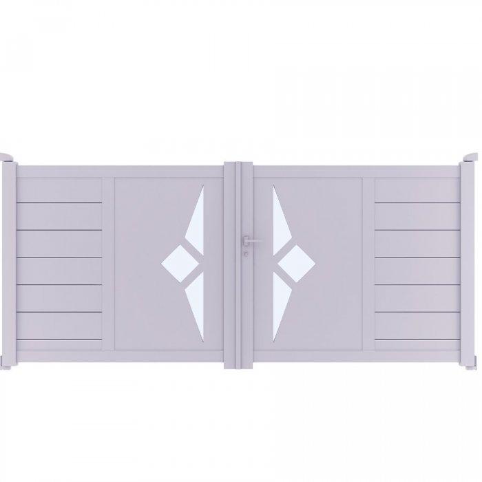 Achetez votre portail aluminium battant à 2 vantaux SCILL à prix vraiment discount