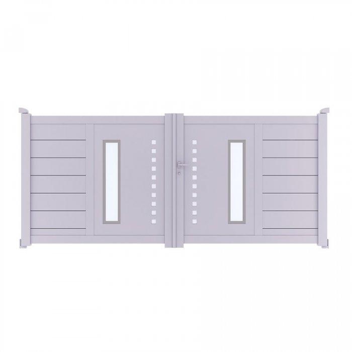 Achetez votre portail aluminium battant à 2 vantaux DIOME à prix vraiment discount