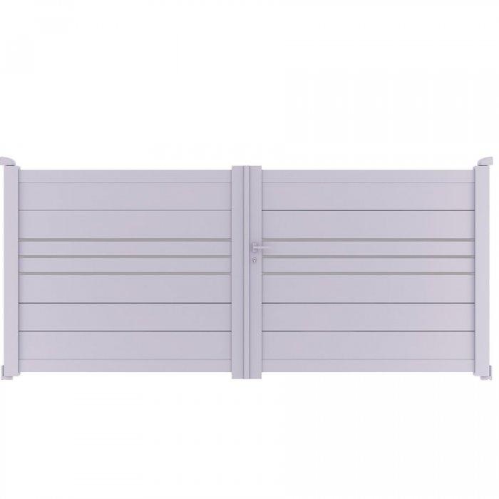 Achetez votre portail aluminium battant à 2 vantaux DEVON à prix vraiment discount