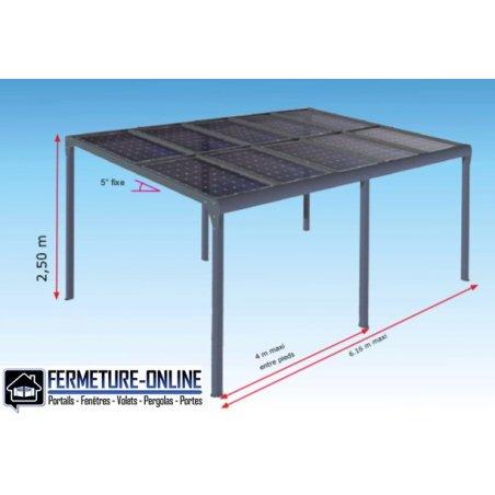 Carport aluminium solaire
