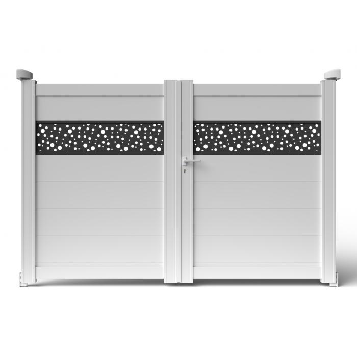 Superbe portail alu design BALERE