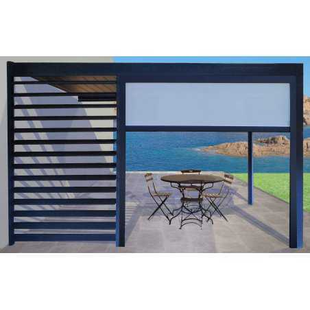 pergola bioclimatique polycarbonate toile enroulable pas cher. Black Bedroom Furniture Sets. Home Design Ideas