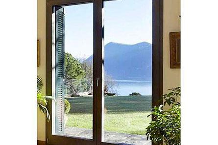Porte fenêtre en Alu 2 vantaux