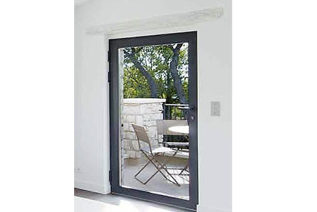 Porte fenêtre en alu simple vantail