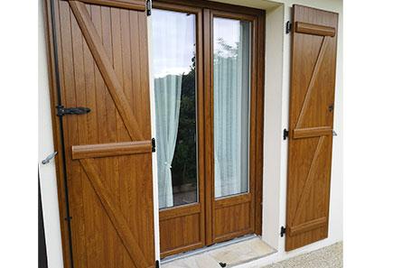 Porte fenêtre en bois 2 vantaux