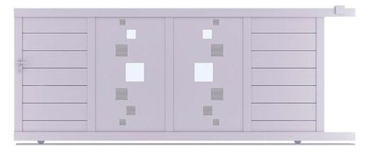 Portail coulissant en alu pas cher : notre selection portails coulissants design - portail modern