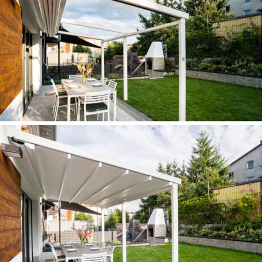 La pergola ASTRES à toit rétractable ouverte / fermée !