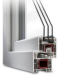 Fenêtre PVC idéal 5000 triple vitrage