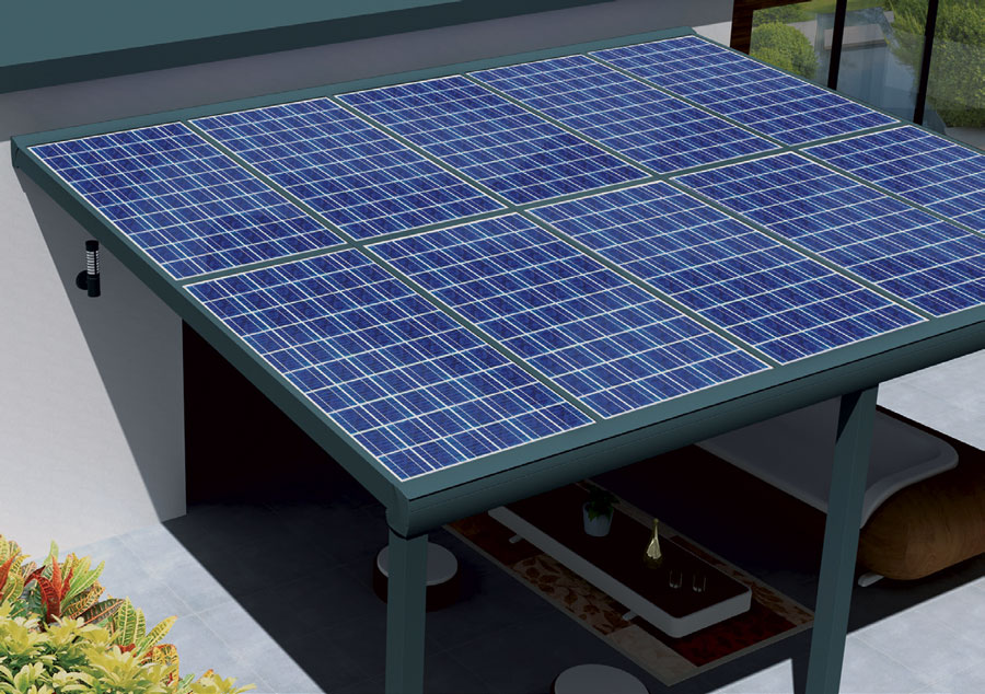 Pergola photovoltaïque et pergola solaire