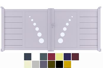 Portail classique à 2 vantaux battants en aluminium tom