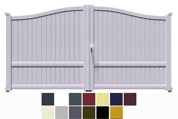 Avec le modèle de portail aluminium à 2 battants MARA vous allez enfin pouvoir changer l'aspect de votre extérieur et ceci à moindre frais ! Tout en aluminium, de qualité professionnelle il redonnera un coût de jeune à votre clôture et vous pourrez aussi choisir le portillon dans la même gamme visuelle.