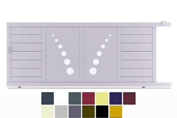 Votre Portail coulissant en aluminium modele pil