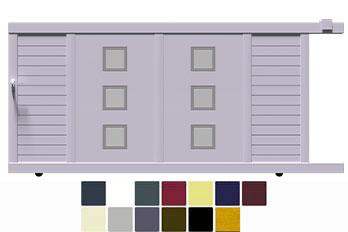Profitez de nos offres pour acheter un portail coulissant en aluminium au meilleur prix multi finitions