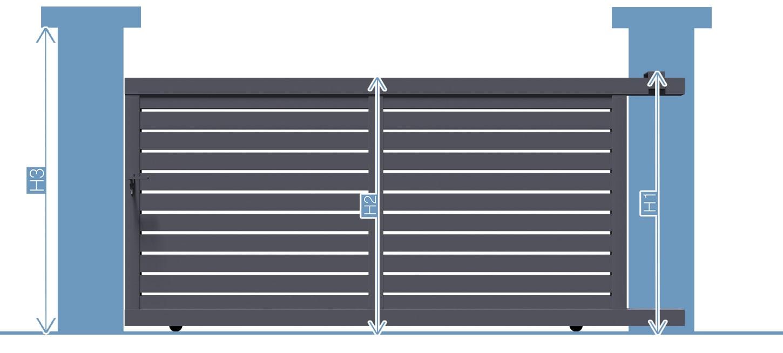 Prise de largeur pour bien acheter votre portail coulissant alu au meilleur prix directement d'usine